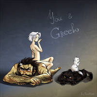 You and Greebo by CoraOrvat