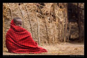 Little red masai boy by RoieG