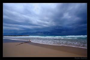 Stormy Beach by RoieG