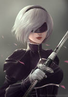 A2 in the past (From YorHa stage play 1.2) by Renlewiz