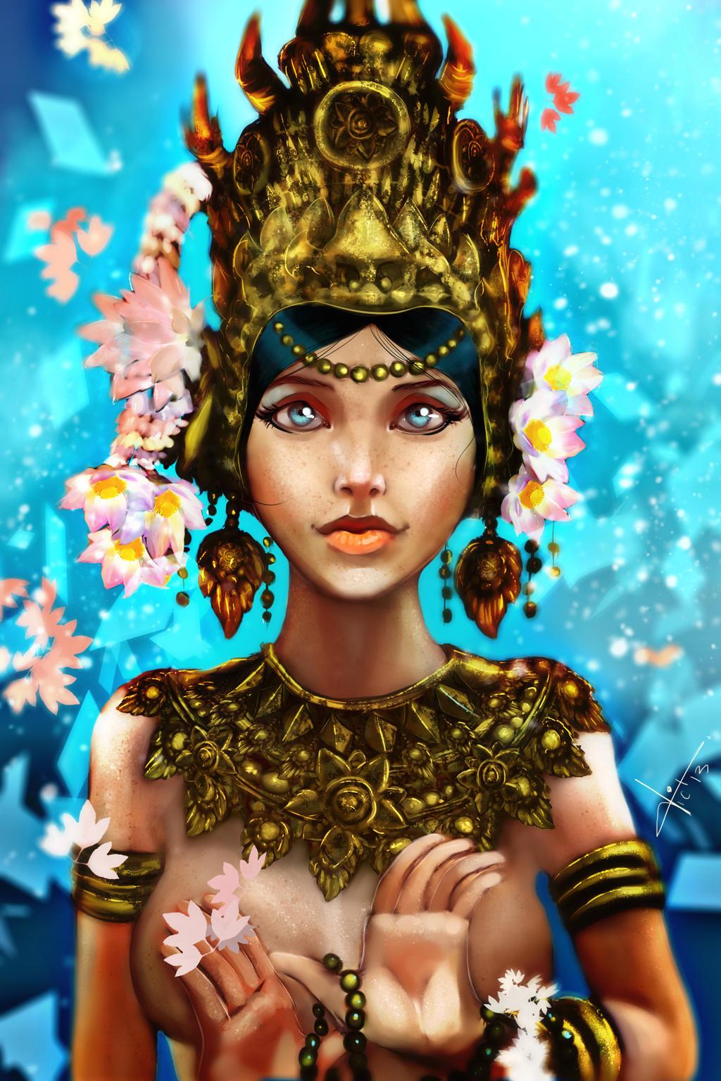Apsara Dancer by victter-le-fou on DeviantArt