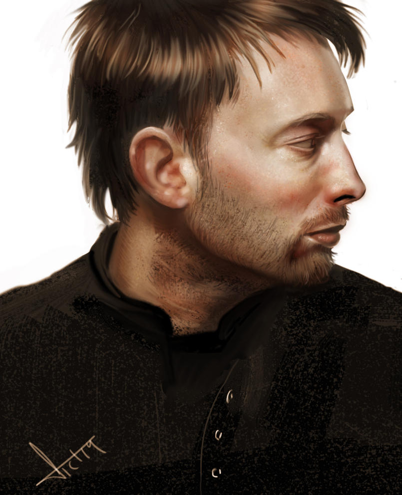 Thom Yorke Color practice. by victter-le-fou
