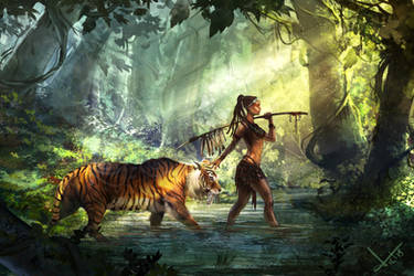 Tiger Guardian by victter-le-fou