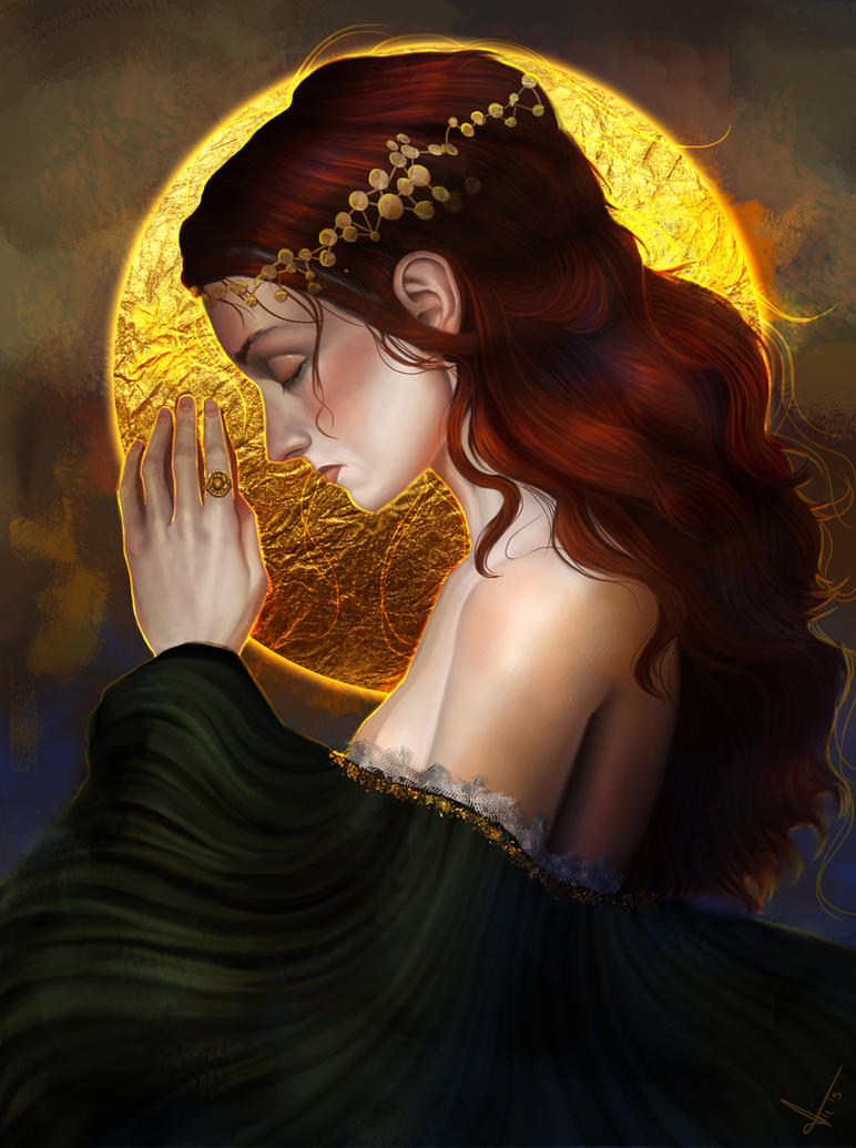 Ophelia and the sun by victter-le-fou