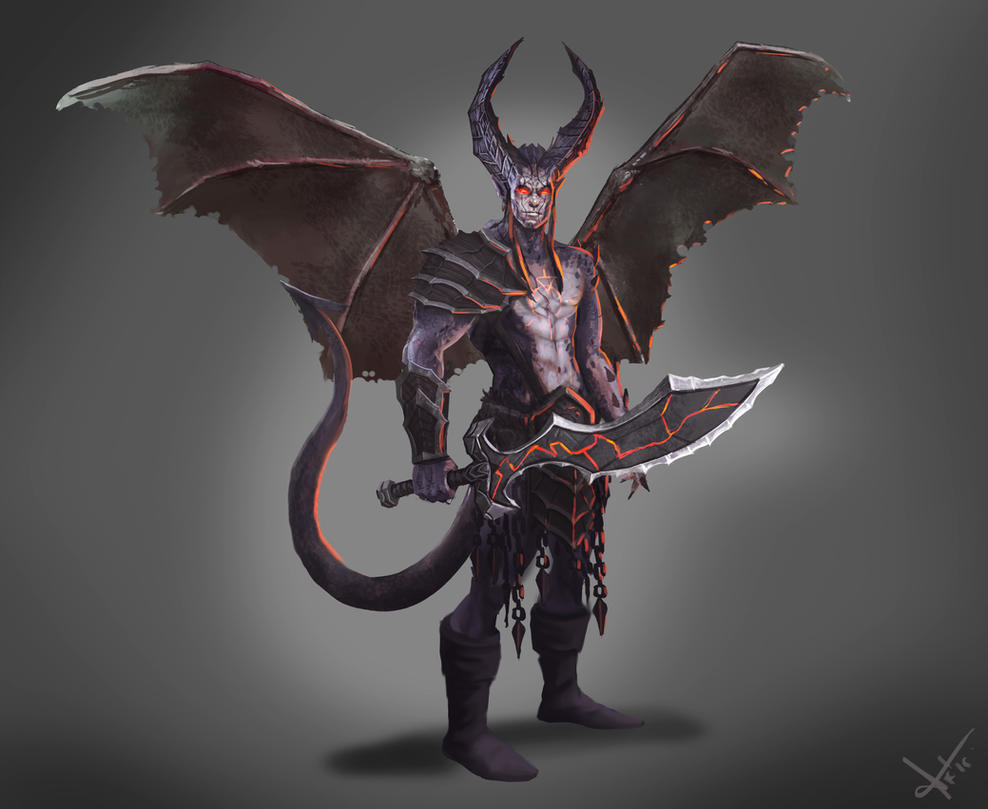 Bat Winged Demon by victter-le-fou