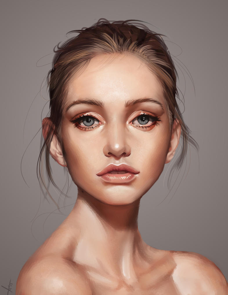 Young Woman With Beautiful Hair Style And Art Abstract ...  |Beautiful Face Art