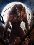 Werewolf Drawlloween fun