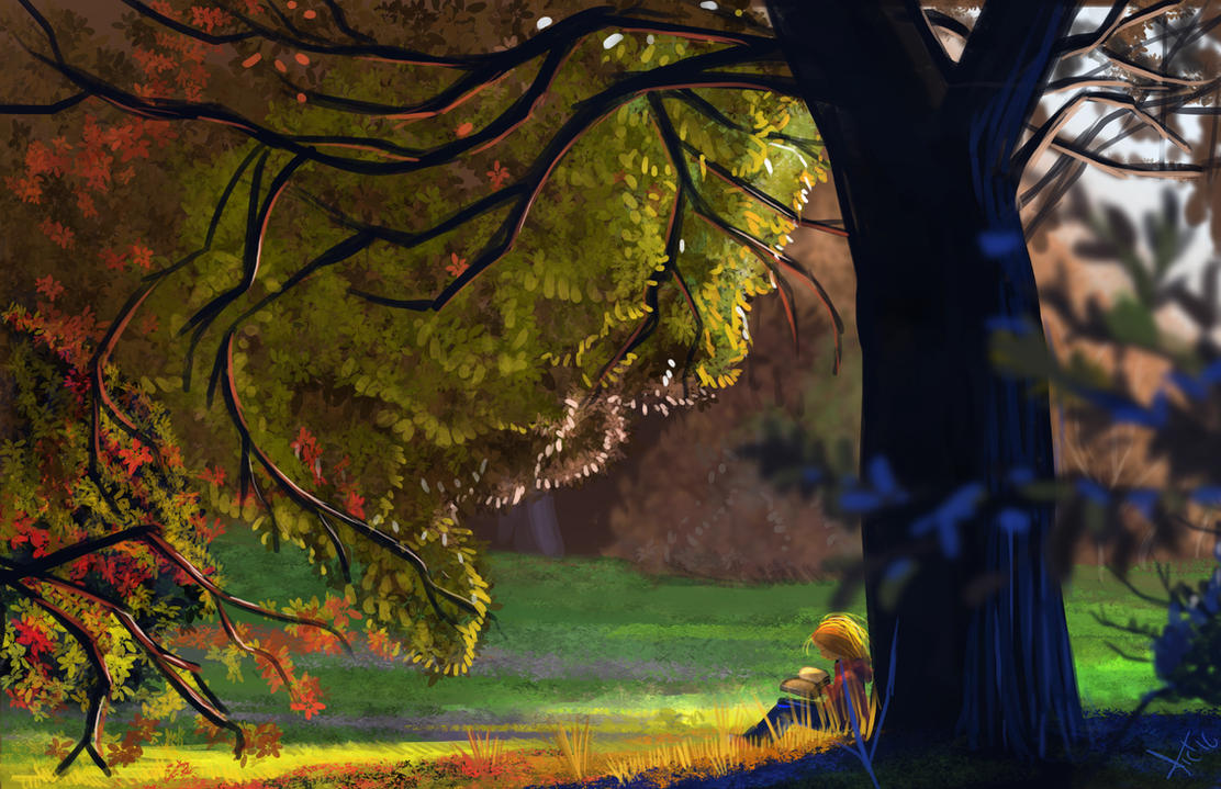 Under the tree by victter-le-fou