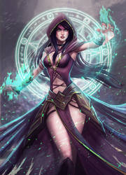 Sorceress by victter-le-fou