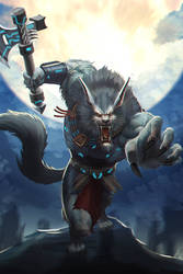 Werewolf Commissioned artwork by victter-le-fou