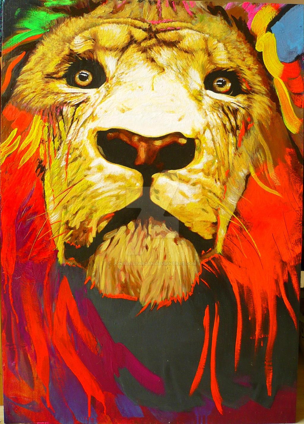 Lion awakes (day light)