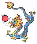 Water and Fire Dragon