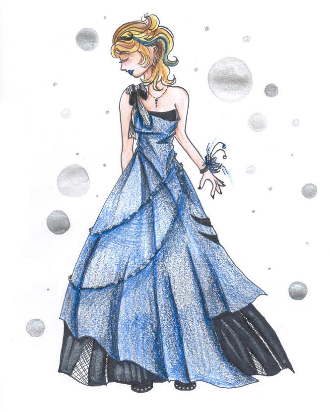 Tackpin: Prom Dress Design by ammehsuor on DeviantArt