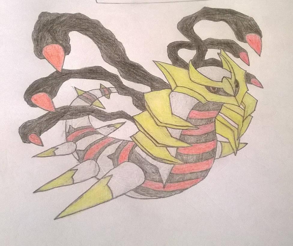 Traced Giratina by blackcatofindelay