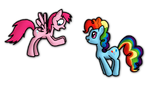 Pinkie Dash and Rainbow Pie