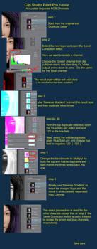 Clip Studio Paint Tutorial: RGB Channel Separation