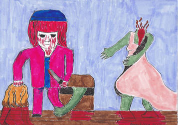 Drawlloween 10/7/16 - Blood by deliciousdemonhouse