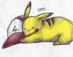 Pikachu + Satoshi's Hat by PacificPikachu