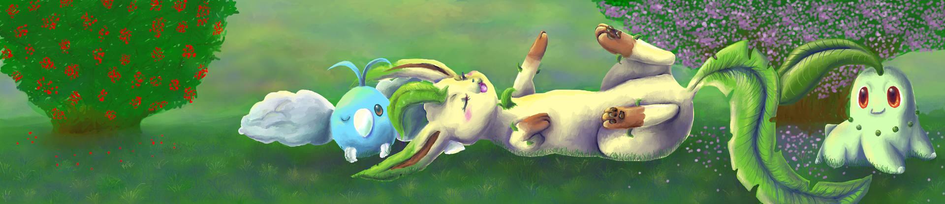 Sunbathing in the Grass