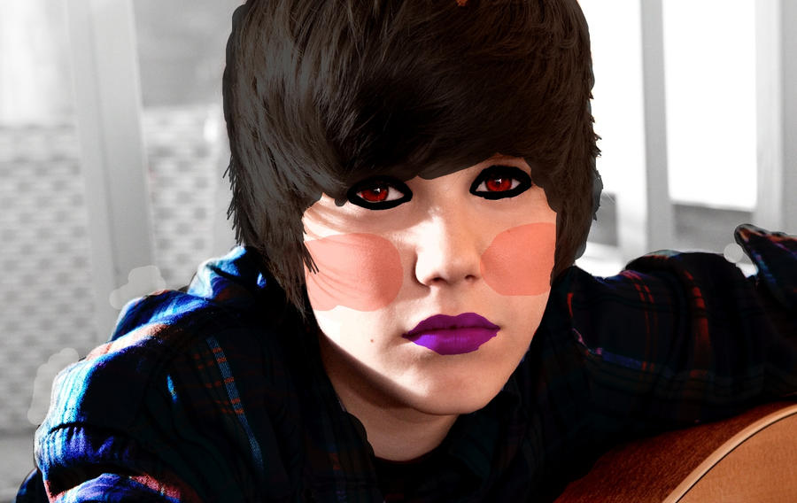 Justin Bieber, The Emo Kid by imuffinator