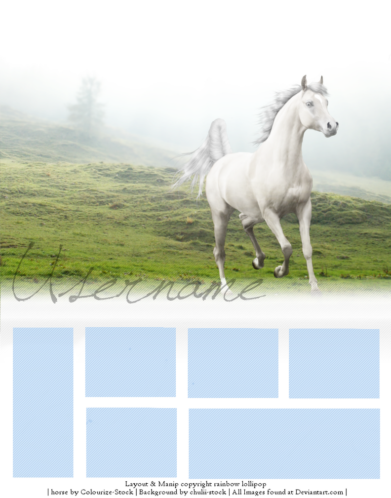 Howrse layout by candyhorse on deviantart