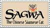 Sagwa The Chinese Siamese Cat Stamp by gunsweat