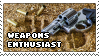 Weapons enthusiast stamp