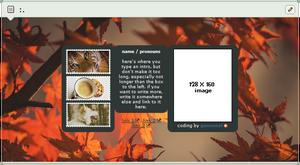 F2U // fall / autumn content box code by gunsweat