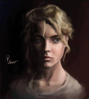 Colored portrait of a girl