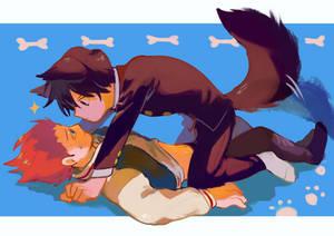 i want ritsu to be shou's dog
