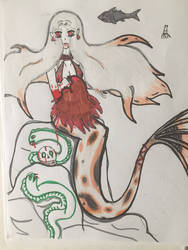 4 year old Drawing of a Koi Fish Mermaid