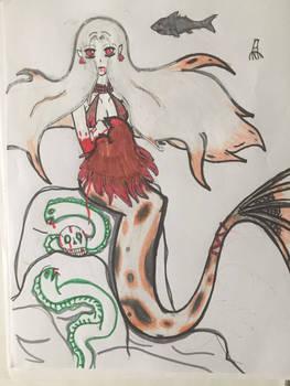 4 year old Drawing of a Koi Fish Mermaid