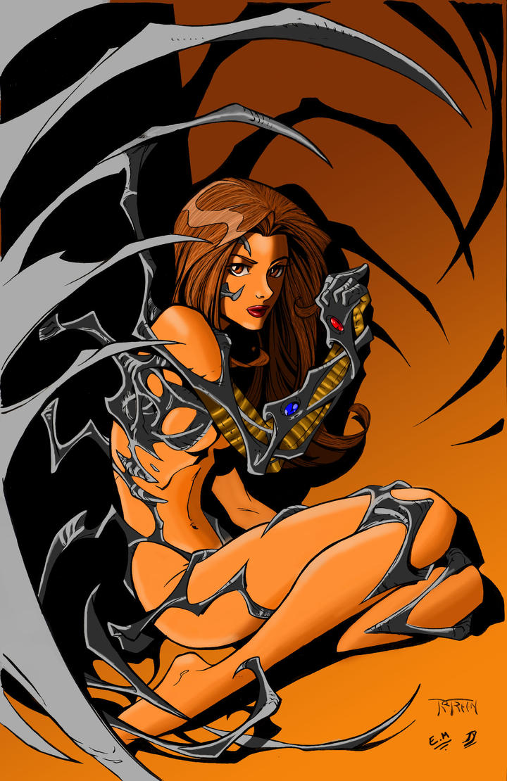 Witchblade  Pin-up by Elvenwyn