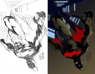 batman beyond Side-by-Side