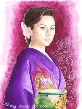 japanese actor yonekura kimono