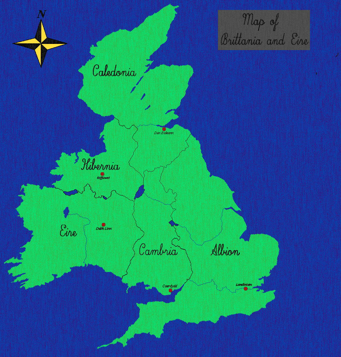 Map of Brittania and Eire by PaladinOfTheSun on deviantART