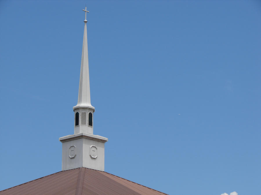 Here is the steeple