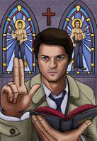 Castiel the Preacher Angel by vicious-sock