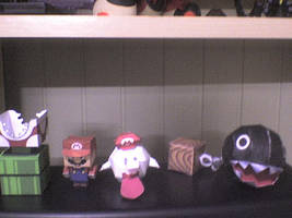 mario and company papercraft by sylleryum