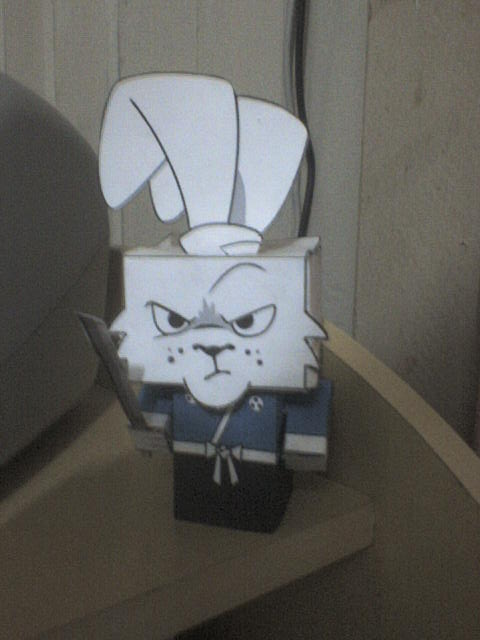 rabbit samurai papercraft