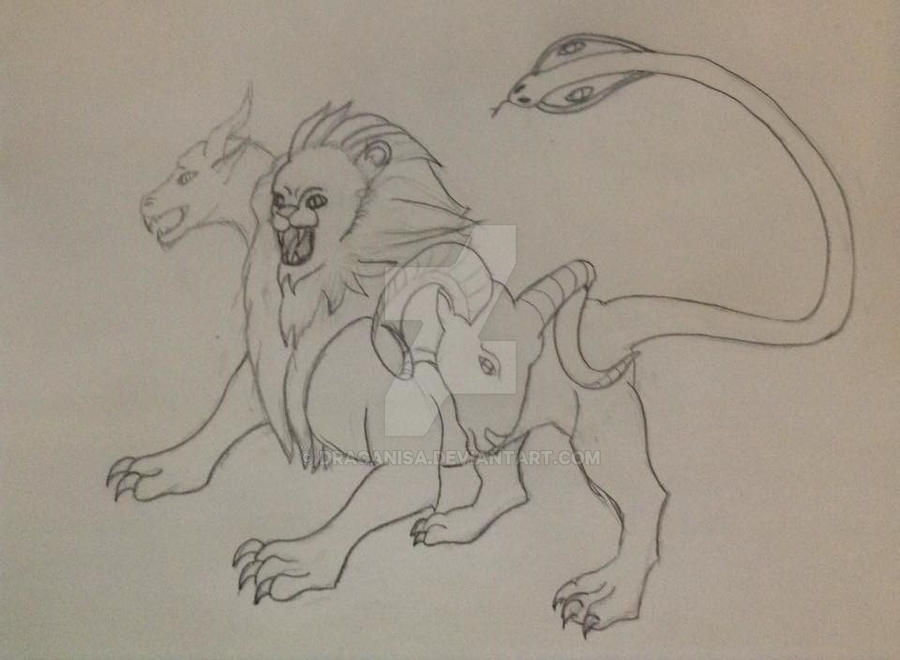 Chimera Rough sketch by Dracanisa