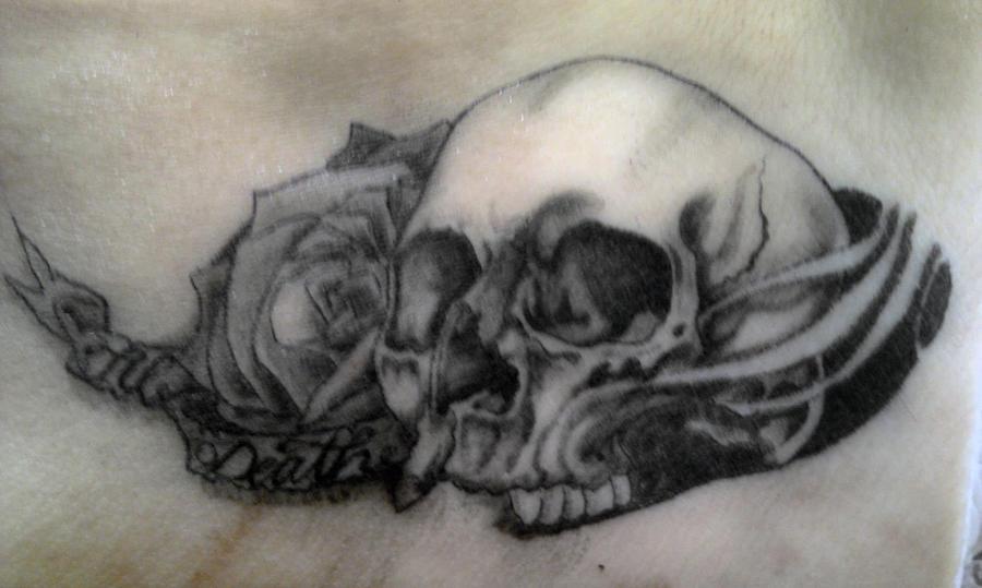 top till death do us part skull tattoos images for pinterest tattoos. Black Bedroom Furniture Sets. Home Design Ideas