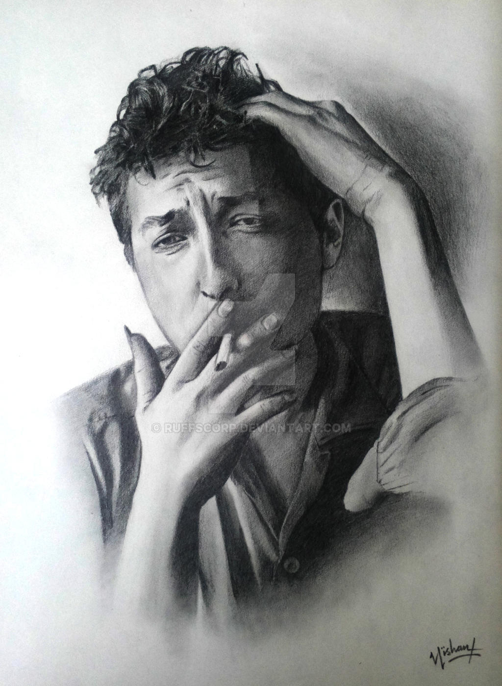 Bob_dylan_pencil_sketch_2B by ruffscorp