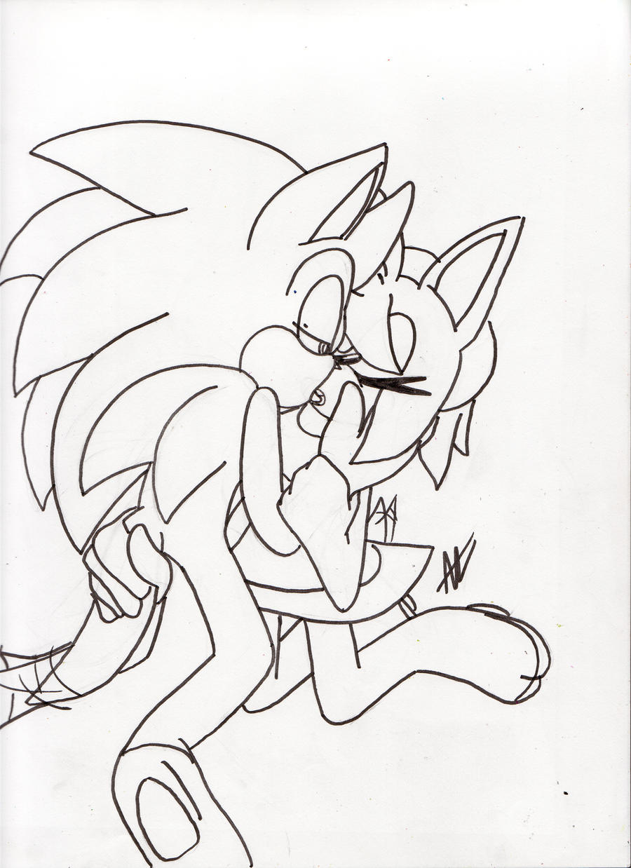.:Sonic and Amy French Kissing Or Whateves N' Stuf by AzureDreamrealm
