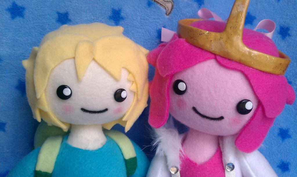 Finn and Bubblegum by TiffyyyCuppyCake