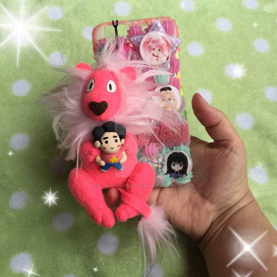 Lion Holding Steven Phone Charm by TiffyyyCuppyCake