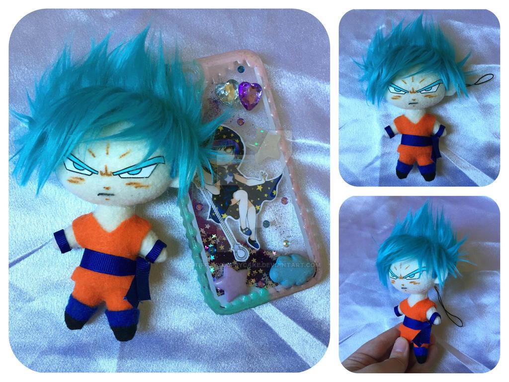 SSGSS Goku Plush Phone Charm by TiffyyyCuppyCake