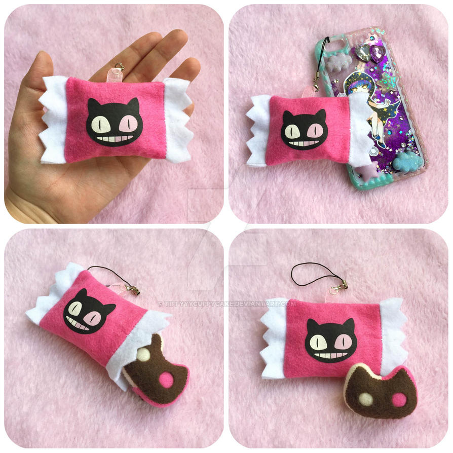 Cookie Cat Phone Charm by TiffyyyCuppyCake