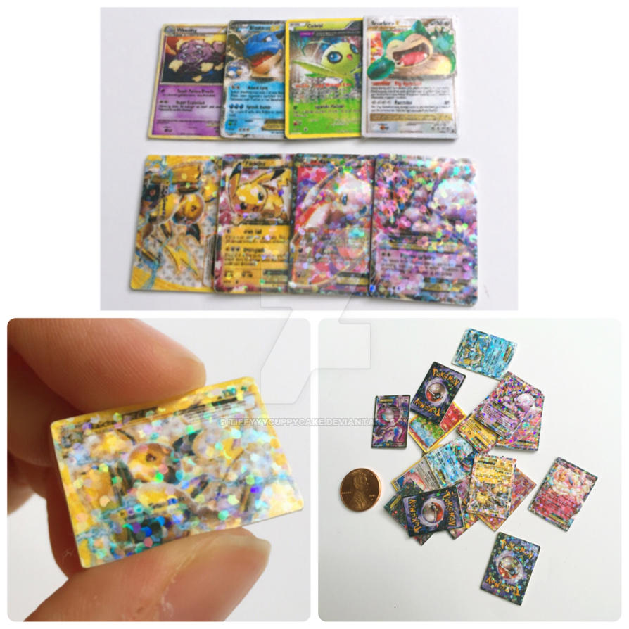 mini holographic pokemon cards by tiffyyycuppycake on deviantart