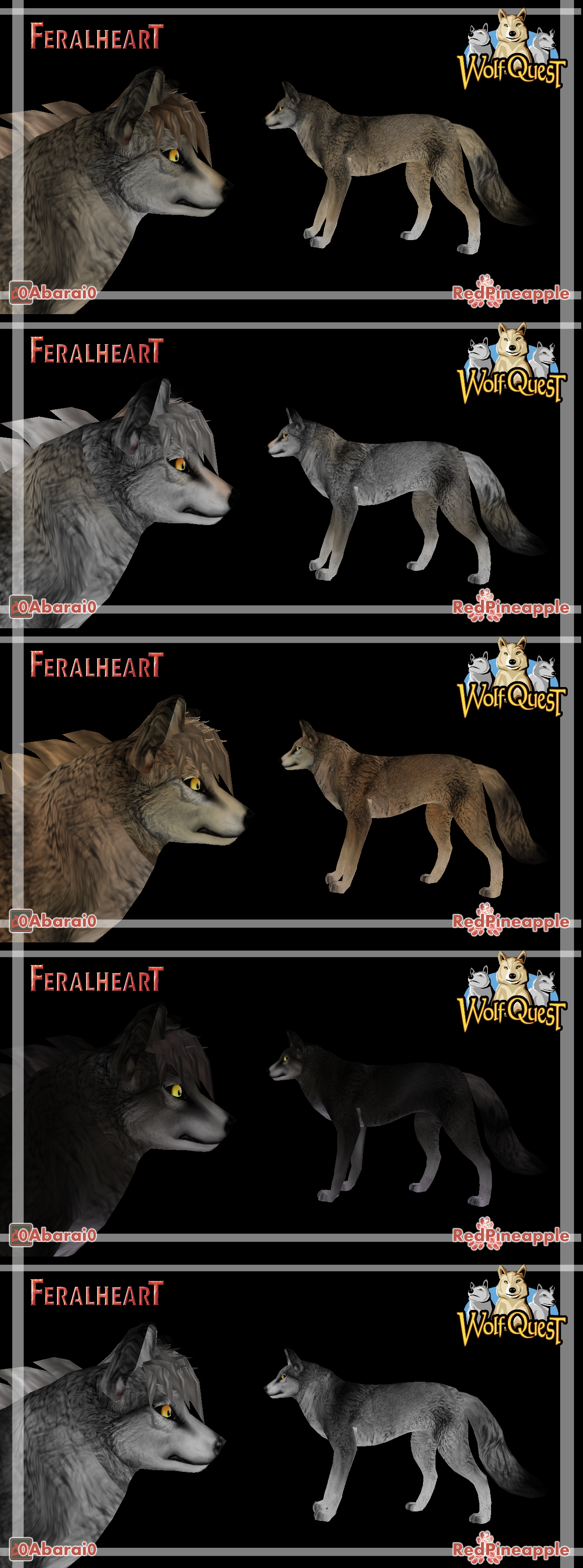 *OLD* FeralHeart :: FREE WOLFQUEST PRESETS by 0Abarai0